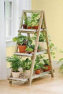 les meilleurs diy deco avec une vieille echelle With meuble pour plantes d interieur