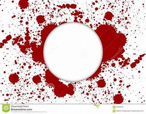 Vector Paint Splatter Red Color With White Background And ...