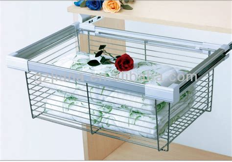 pull out metal wire storage drawer basket organizer for