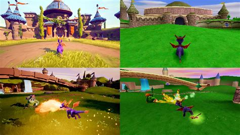 trilogy spyro reignited ps4 ps1 comparison screenshots dragon vs game graphics switch nintendo swoops xb1 sept onto appear leaked amazon