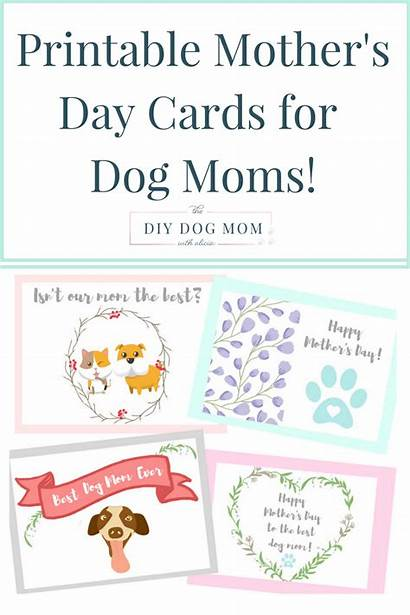 Dog Cards Printable Mothers Mother Dogs Pet