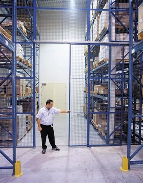 security gates partitions products warehouse storage