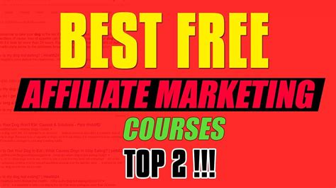 free marketing course for beginners best free affiliate marketing course for beginners top 2