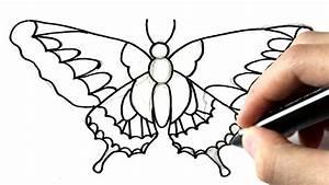 Dessin Facile Papillon : comment dessiner un papillon youtube ~ Melissatoandfro.com Idées de Décoration