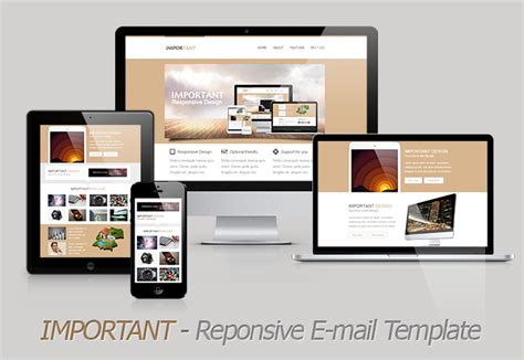 important responsive email template themeforest