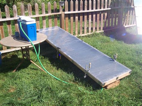 build   flat panel solar thermal collector  steps