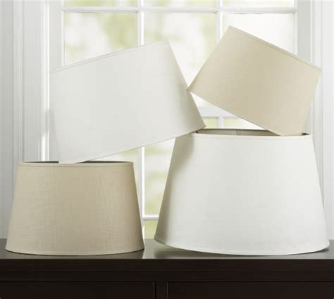 linen tapered drum l shade pottery barn