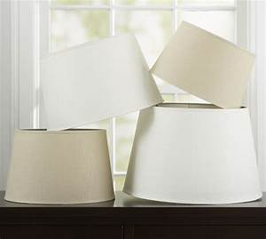 linen tapered drum lamp shade pottery barn With drum lamp shades lighten up your day