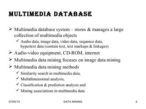 multimedia datamining