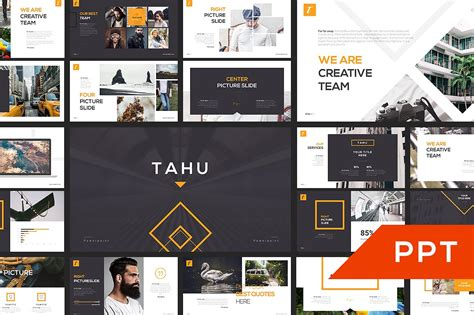tahu powerpoint template template train