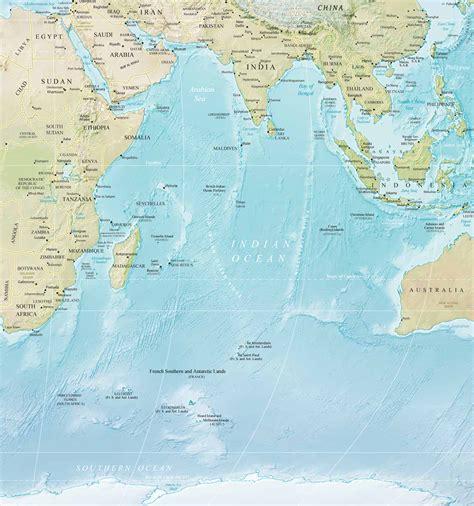 map  indian ocean islands countries