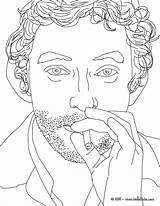 French Coloring Singer Pages Gainsbourg Serge France Flag Coloriages Famous Hellokids Celebrities Celebrites Getdrawings sketch template