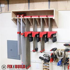 Ana White Space Saving Clamp Storage Rack - DIY Projects