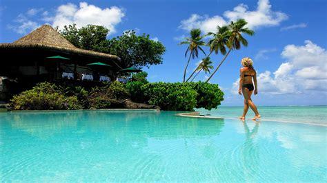 resort  aitutaki french polynesia desktop background
