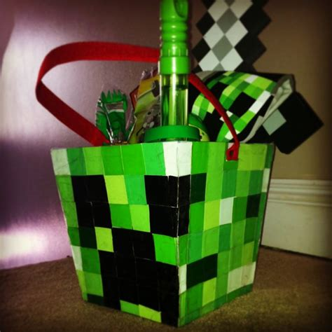 minecraft creeper easter basket fun   holidays