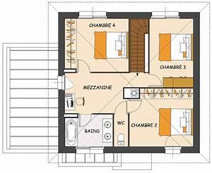plan maison avec mezzanine conseil peinture chambre With plan maison mezzanine gratuit