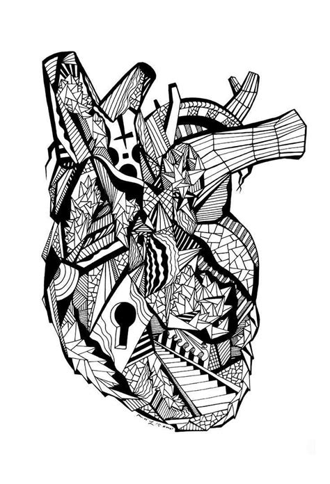 Of The Most Creative Free Adult Coloring Pages Kenal Louis Human Heart Drawing Adult