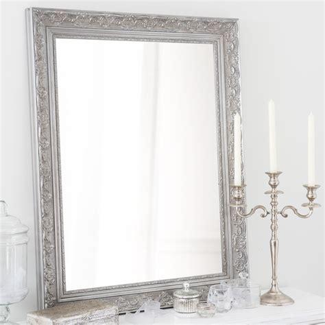 miroir en bois de paulownia argente   cm valentine maisons du monde