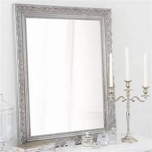 Maison Du Monde Miroir : miroir en bois de paulownia argent h 90 cm valentine maisons du monde ~ Teatrodelosmanantiales.com Idées de Décoration