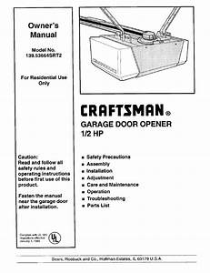 Craftsman 139 53664srt2 User Manual