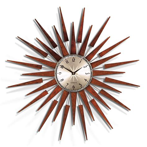 buy newgate clocks  pluto starburst wall clock large
