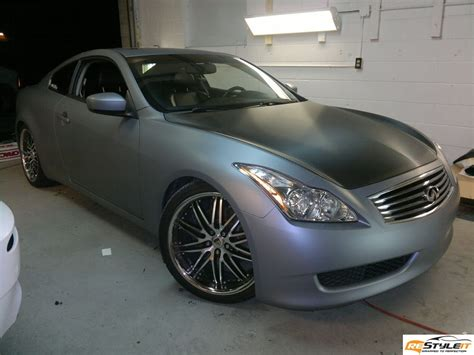 matte grey metallic infiniti  vehicle customization