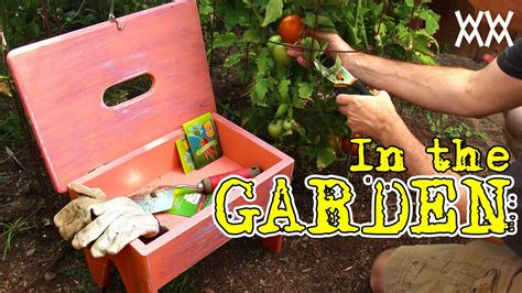 handy gardening stool  carries supplies fun outdoor woodworking project youtube