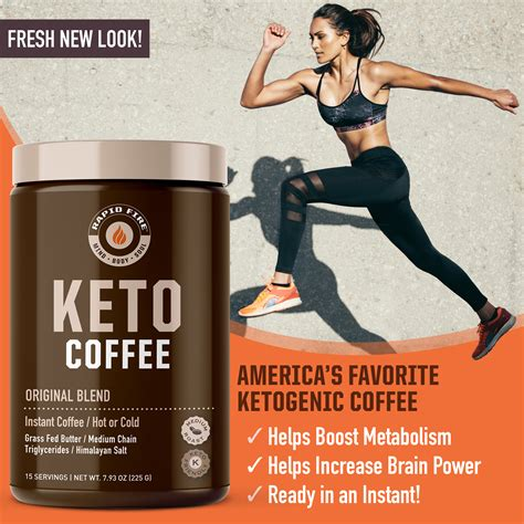 Each ingredient has been carefully selected and with you in mind. Rapid Fire Original Keto Instant Coffee Mix Canister