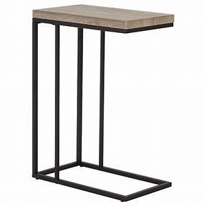 Table D Appoint : table d 39 appoint en bois plaqu et en m tal ~ Teatrodelosmanantiales.com Idées de Décoration