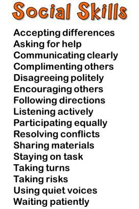 social skills examples   good social skills