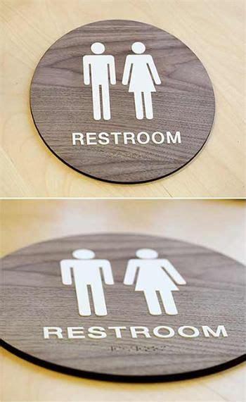 stylish restroom signs  braille wood bathroom signs