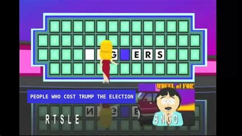 foto de Randy from South Park is on Wheel of Fortune Election