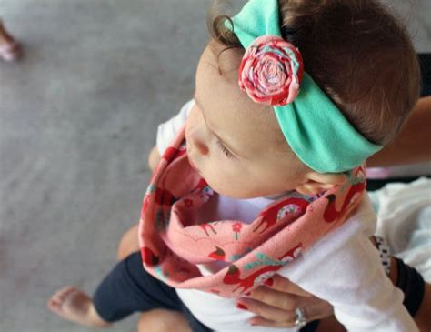 Baby Infinity Scarf And Headband In Fox