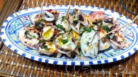 cuisiner avec une plancha recette chipirons a la plancha petits calamars le