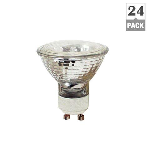 feit electric 50 watt halogen mr16 gu10 base light bulb 24 pack bpq50mr16 gu10 24 the home depot
