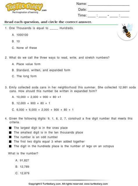 identify  number worksheet turtle diary