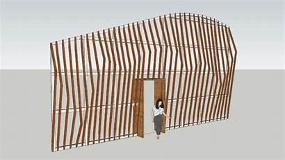 Facade Sketchup Panels Warehouse 3d