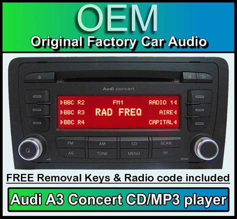 audi a3 radio audi a3 cd mp3 player audi concert car stereo unit with radio code ebay