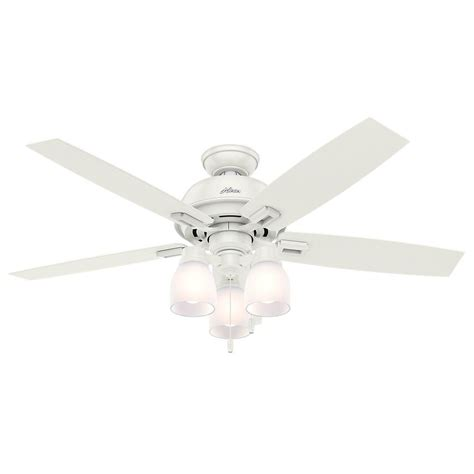 White Ceiling Fans With Lights by Donegan 52 In Led Indoor Fresh White Ceiling Fan
