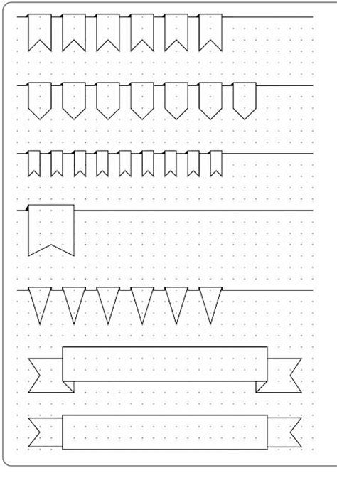 bullet journal template bullet journal monthly banner headers template notebooks notesb 248 ger dagb 248 ger