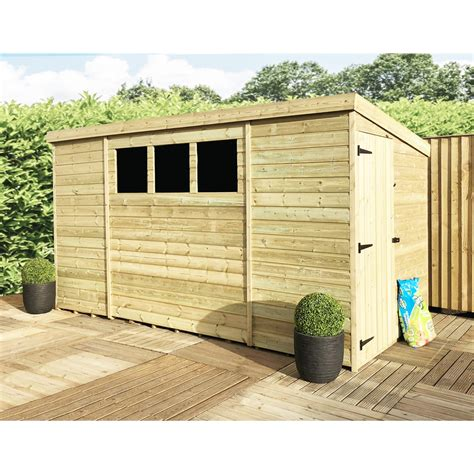 10ft X 6ft Shed by Shedswarehouse Aston 10ft X 6ft Pressure Treated