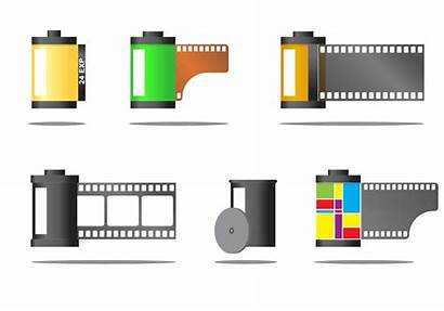 Film Canister Vector Clipart Icons Camera Cinematography