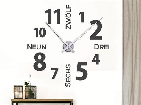Design Uhren Wand by Wandtattoo Designer Wanduhr Wandtattoo