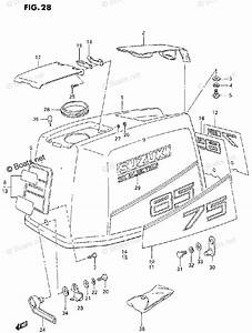 Suzuki Outboard Parts By Model Dt 75 Oem Parts Diagram For Engine Cover  Model 1988