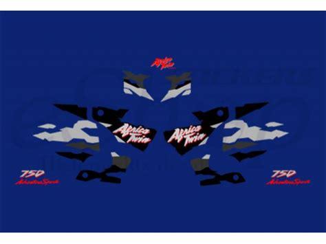africa twin   blue black set eshop stickers