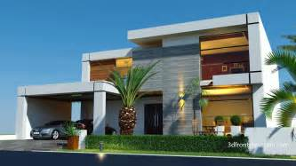 modern house plan 3d front elevation beautiful contemporary house