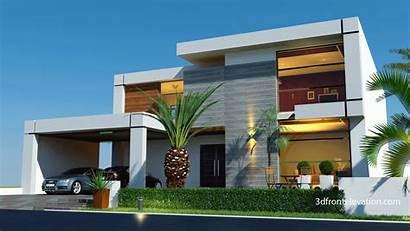 Contemporary Modern Homes 3d Elevation Plans Houses
