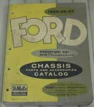 1956 Ford Thunderbird Chassis  U0026 Accessories Parts Catalog