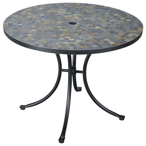 swing up coffee table harbor slate tile top outdoor table 224986 patio