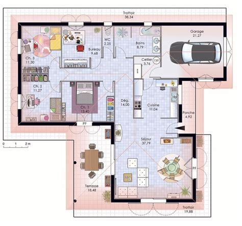 plan chambre feng shui plan maison contemporaine plain pied plan maison